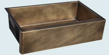 Custom Bronze and Brass Farm Sinks # 4779