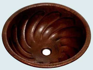 Copper Bar Sink # 2003