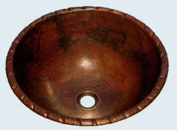 Copper Bar Sink # 1993