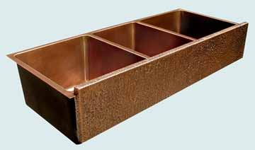 Copper Extra Large Sinks # 3449
