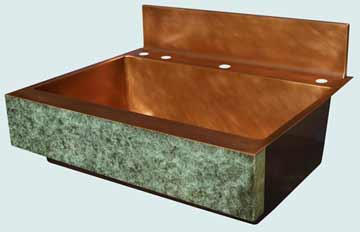 Copper Sinks Old World Patina # 3474