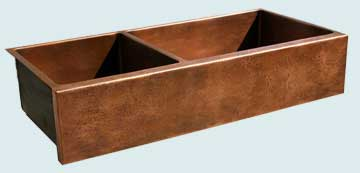 Copper Extra Large Sinks # 3642