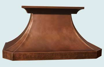 Copper Range Hood # 2756