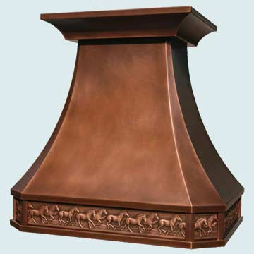 Copper Range Hood # 2771