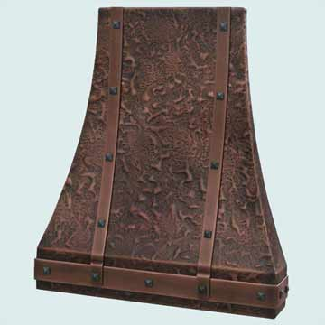 Copper Range Hood # 2793