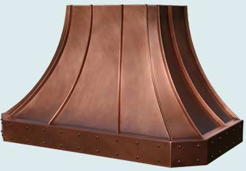 Copper Range Hood # 2805
