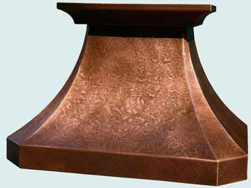 Copper Range Hood # 2907