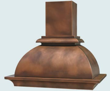 Copper Range Hood # 3105
