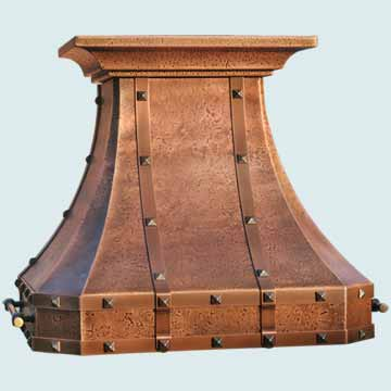 Copper Range Hood # 3152