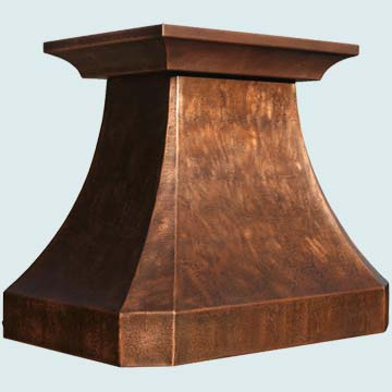 Copper Range Hood # 3159