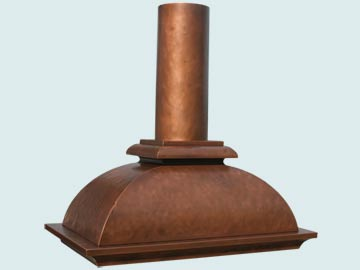 Copper Range Hood # 3169