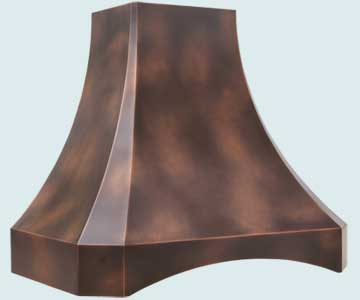Copper Range Hood # 3173