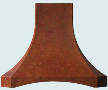 Copper Range Hood # 3196