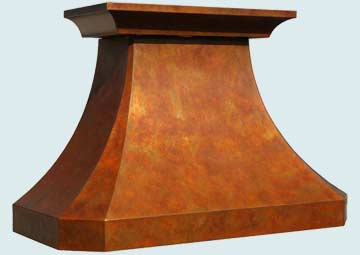 Copper Range Hood # 3231