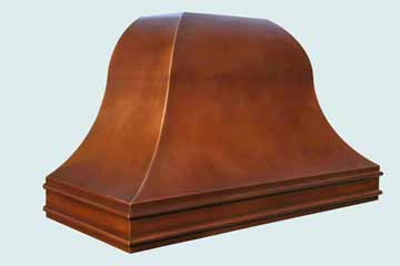 Copper Range Hood # 3822