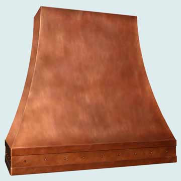Copper Range Hood # 3826