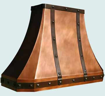Copper Range Hood # 3847