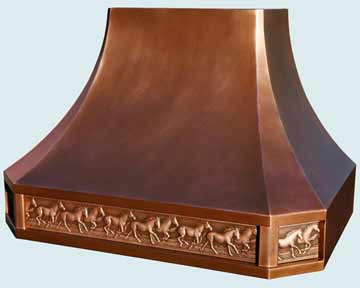 Copper Range Hood # 3849