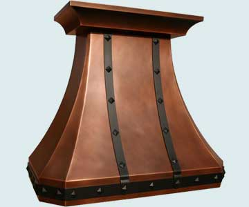 Copper Range Hood # 3850
