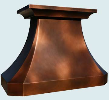 Copper Range Hood # 3876