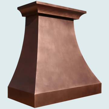 Copper Range Hood # 3881