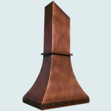 Copper Range Hood # 3955
