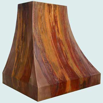 Copper Range Hood # 3956