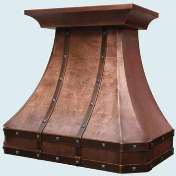 Copper Range Hood # 4029