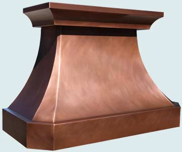 Copper Range Hood # 4197