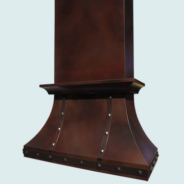 Copper Range Hood # 4207