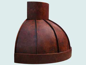 Copper Range Hood # 4211
