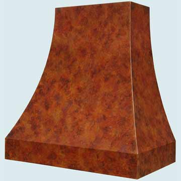 Copper Range Hood # 4272