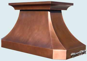 Copper Range Hood # 4356