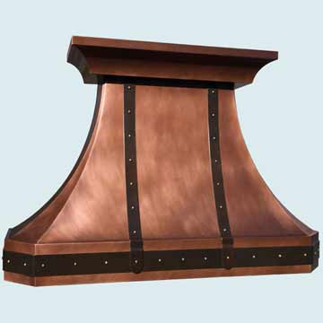 Copper Range Hood # 4375