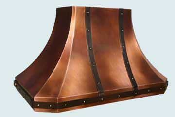 Copper Range Hood # 4445