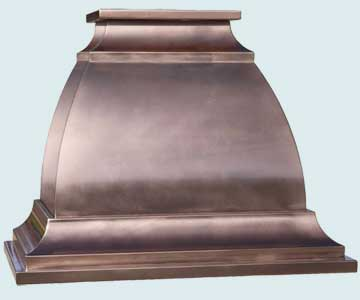 Copper Range Hood # 4479