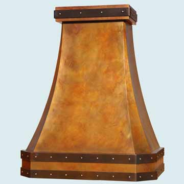 Copper Range Hood # 4485