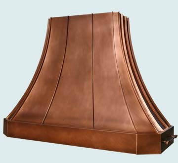 Copper Range Hood # 4542