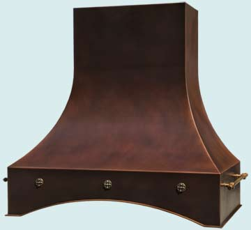 Copper Range Hood # 4643