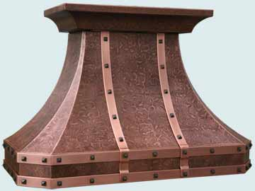 Copper Range Hood # 4655
