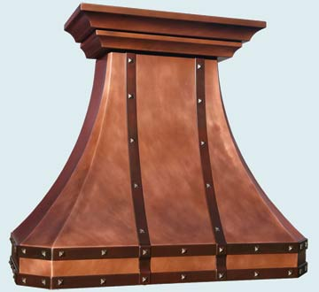 Copper Range Hood # 4669
