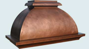 Copper Range Hood # 4679