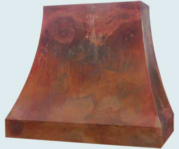 Copper Range Hood # 4716