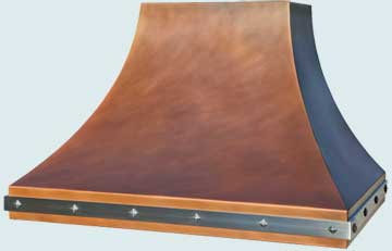 Copper Range Hood # 4767
