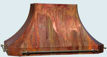 Copper Range Hood # 4937