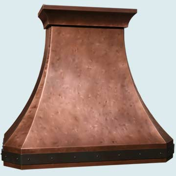 Copper Range Hood # 4962