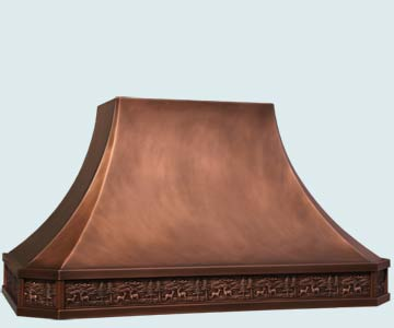 Copper Range Hood # 5180