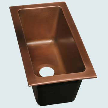 Copper Trough Sinks # 3680