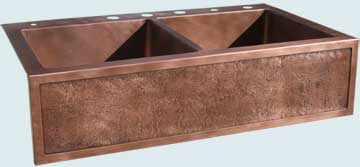 Copper Kitchen Sinks Special Apron  # 3557