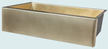 Custom Bronze and Brass Farm Sinks # 4863